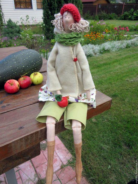 Куклы Тильды ручной работы. Ярмарка Мастеров - ручная работа. Купить Осенняя Фея с яблочком. Handmade. Осень, зеленый, флис