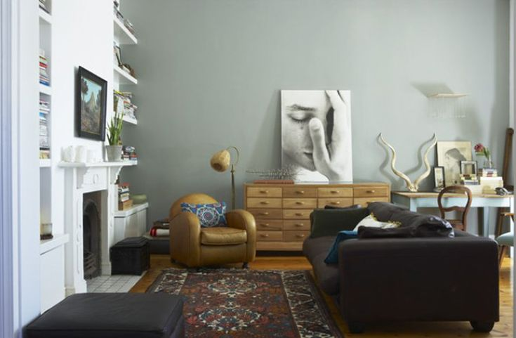favorite living room 2010 - there's something about that color grey and that chari... and that sofa