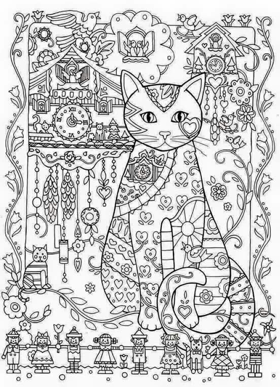 10 best Creative Cats images on Pinterest Coloring books Adult