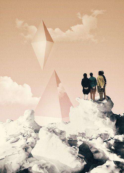 Diamond Sea - Julien Pacaud • Illustration • Perpendicular Dreams
