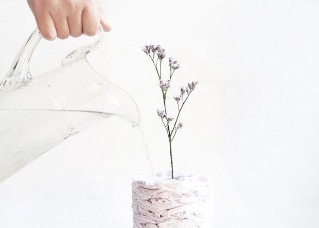 Paper Pot, vase en papier recyclé par Studio MUN - Journal du Design