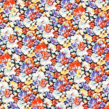 Floral Print Javanaise Viscose Fabric Multi 150cm