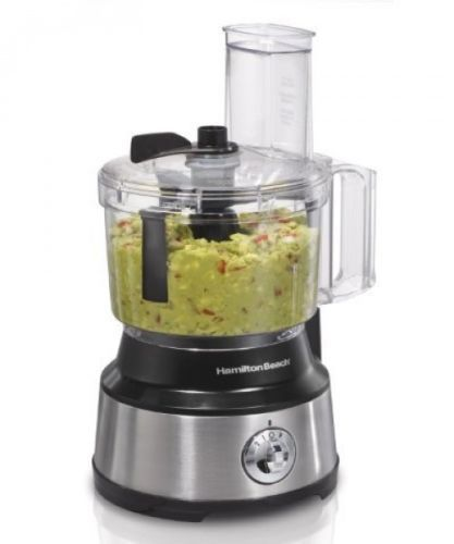 Kitchen Food Processor Electronic 10 Cup Feed Chute Stainless Steel Blender NEW