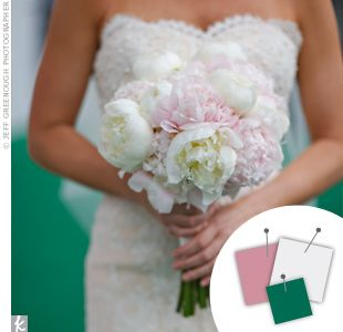 emerald green and gold reception | New Weddings Outdoor Weddings Beach Weddings Destination Weddings Pink ...