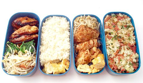 Skinny bento vs. not skinny bento: how to (and how not to) fill a bento box