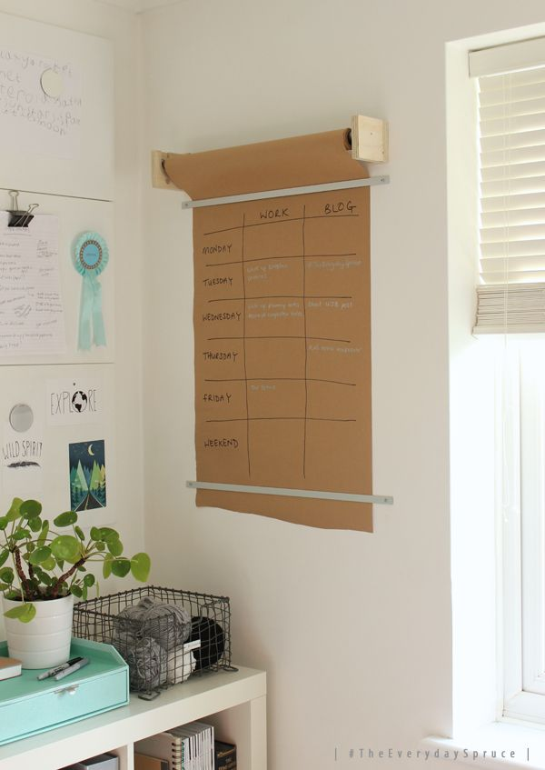 #TheEverydaySpruce brown paper wall planner| Growing Spaces