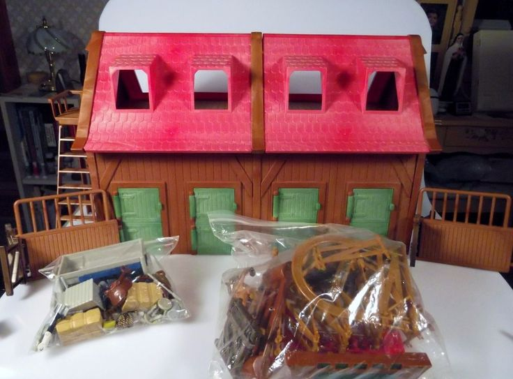 Simba Toys My Horse Stable Ranch Playset Complete Barn People Tools Fence Rare #SimbaToys