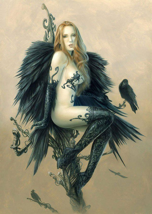 Fantasy Goth Women Warriors Art | gothic-angel-warrior.jpg