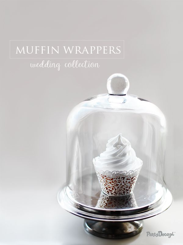 Elegant muffin wrappers - perfect for you dream wedding! #wedding #weddingday #muffinwrappers