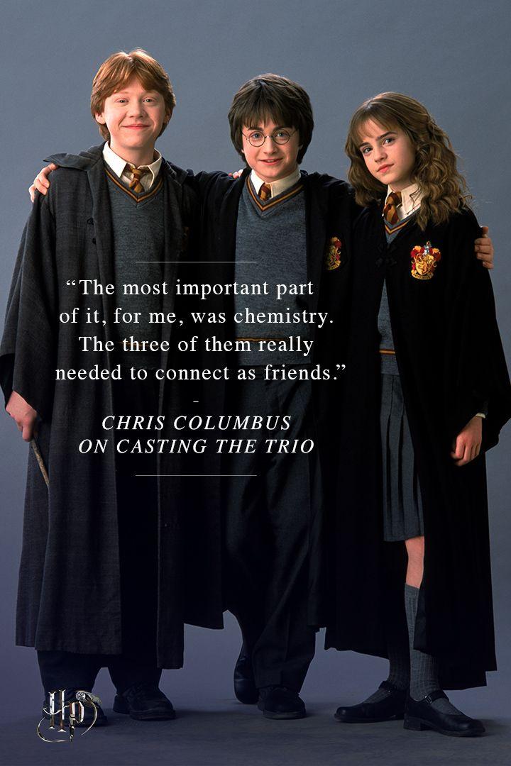 Chris Columbus On Casting The Trio Harry Potter Friends Harry Potter Characters Harry Potter Universal