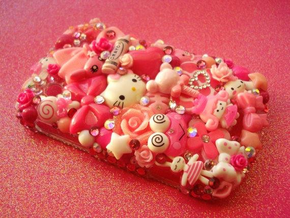Kawaii Pink Blackberry 9900 9930 Decoden Phone Case. $80.00, via Etsy.