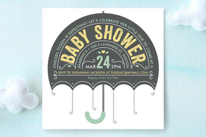 Ombrello Baby Shower Invitations by Karen Glenn at minted.com