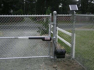 Plain Chain Link Fence Driveway Gate Double Installation And Bracket For Inspiration