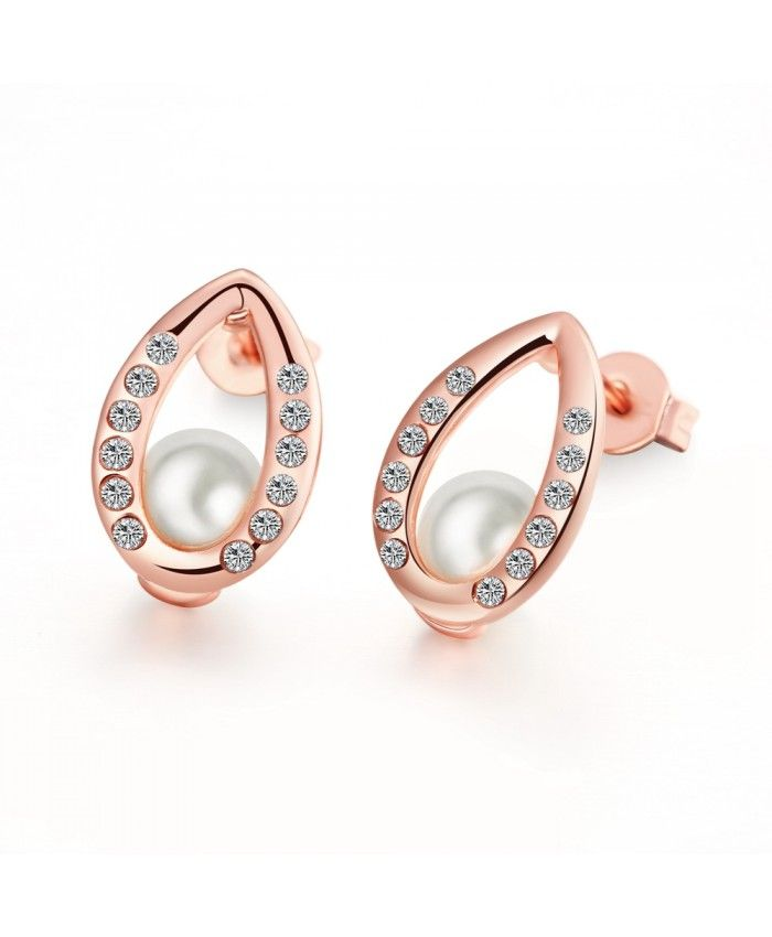 E023 Free Rose Gold Plated Earrings For Women New Fashion Antiallergic Nickle Jewelry