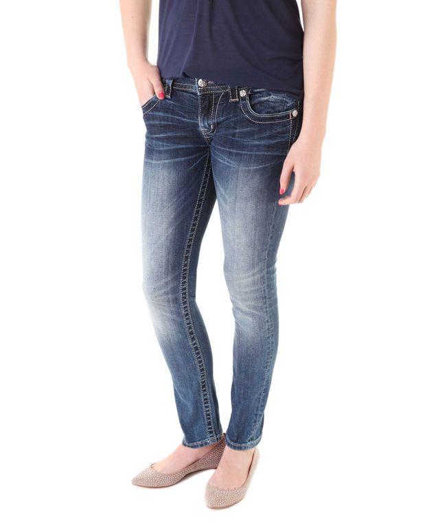 Miss me - low-rise 5 pocket skinny jeans