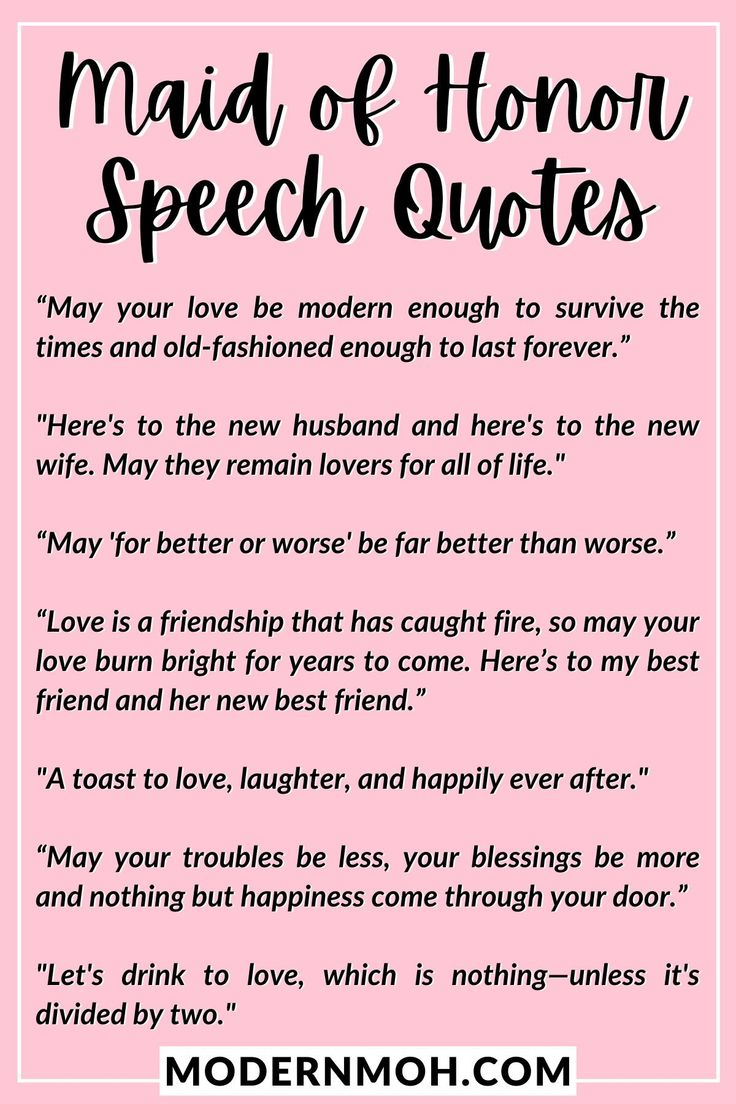 35 Maid of Honor Speech Quotes to Enhance Your Toast