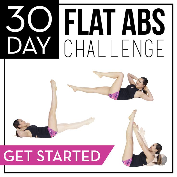 30 day abs challenge and how waist trainers are bad for you. Has moving diagrams and descriptions.