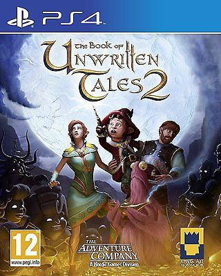The Book Of Unwritten Tales 2 Game PS4 Brand New & Selaed UK