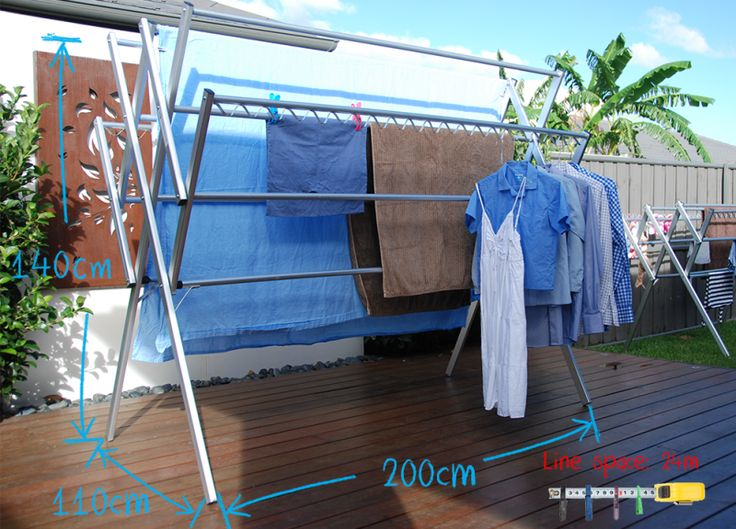 Portable, Lightweight Washing Line Laundry Solution. Dry Clothes Indoor Or  Outdoor, Rust Proof Eco Friendly