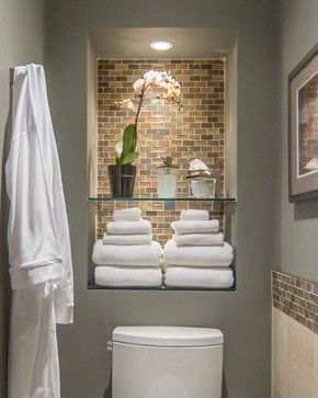 sloped wall bathroom | Home bathroom niche Design Ideas, Pictures, Remodel and Decor