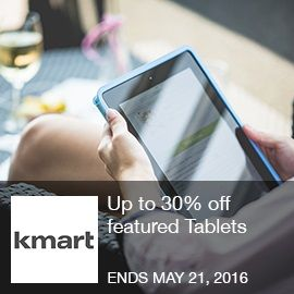 Kmart Coupon- Up to 30% off featured tablets 5/15-5/21 - Up to 30% off featured Tablets Brought to you by http://www.imin.com and http://www.imin.com/store-coupons/kmart/