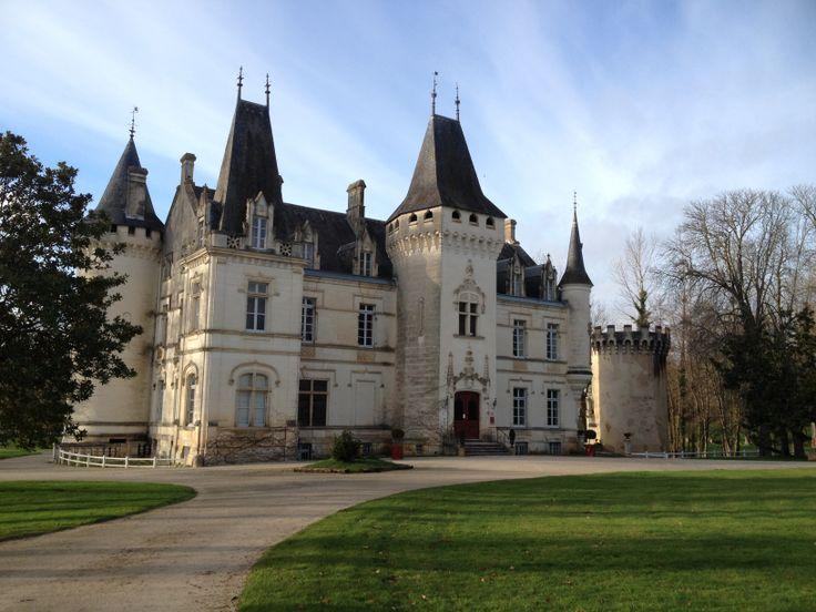 Le château de Nieul en Charente, France