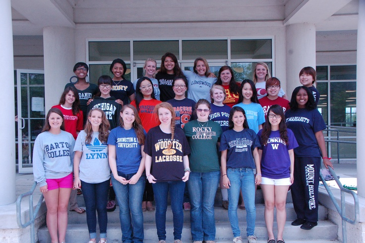 This year's graduating class wearing their college t-shirts. Best of luck next year Scotties, you'll be missed!  viewbook.sms.org