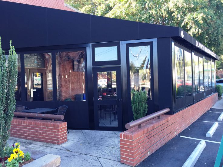 Restaurant patio enclosures  82 best Alpha Canvas Patio Curtain Wall Enclosures images on ...