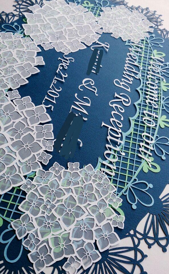 切り絵のウェルカムボード 完成 の画像|コトコト切り絵中