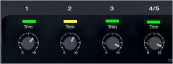 T1 ToneMatch Audio Engine   Setting the input trims.