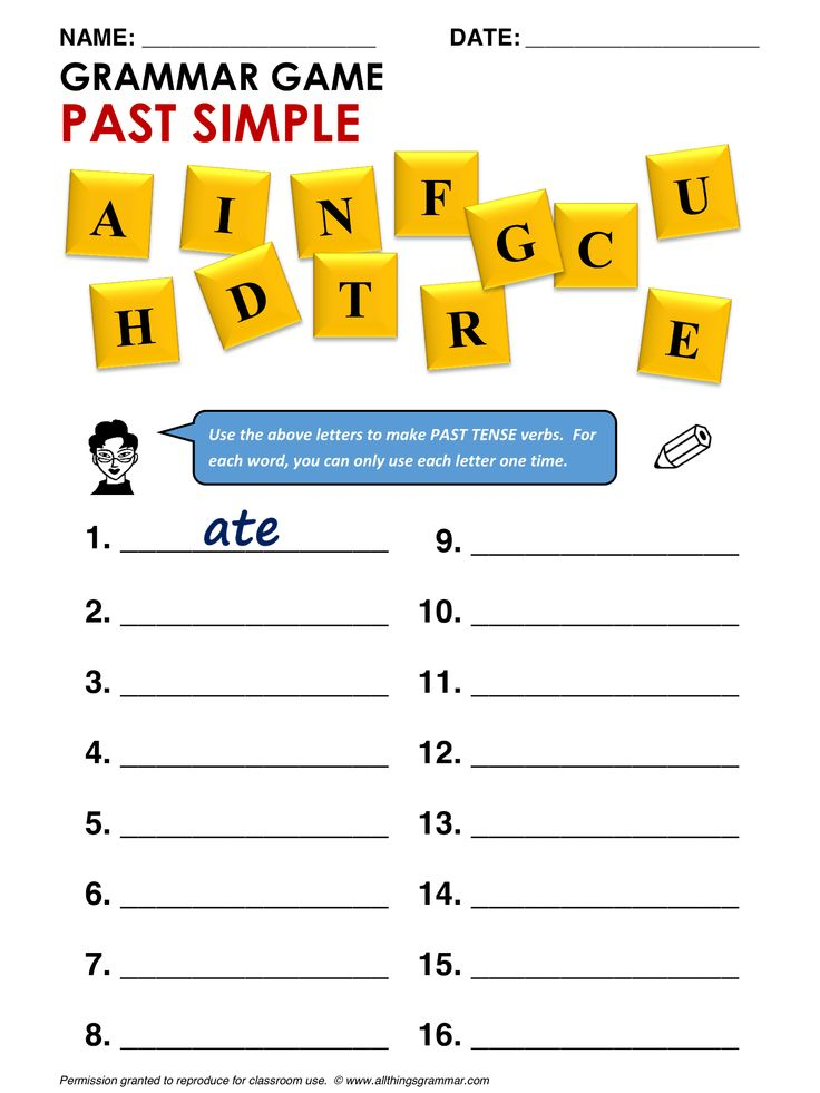 Printable Worksheets past tense worksheets ks2 : 78 best 1-ENGLISH Verbs Past Tenses images on Pinterest | English ...