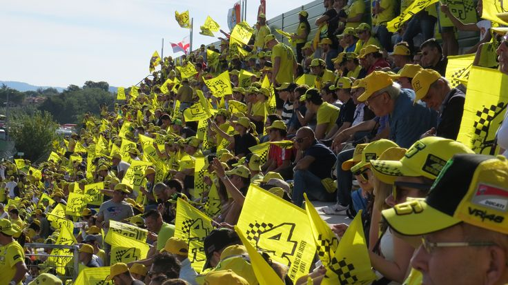 The Brutapela stand and the Valentino Rossi fan club