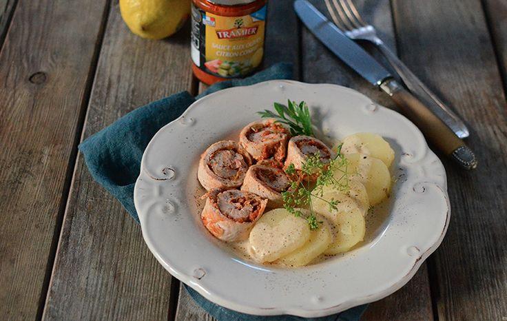 """Roulés de dinde, sauce aux olives """"citron confit"""" #recette #thanksgiving"""