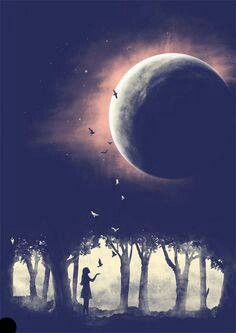 Are you setting your dreams free to fly up to the moon, or is the moon giving you dreams?