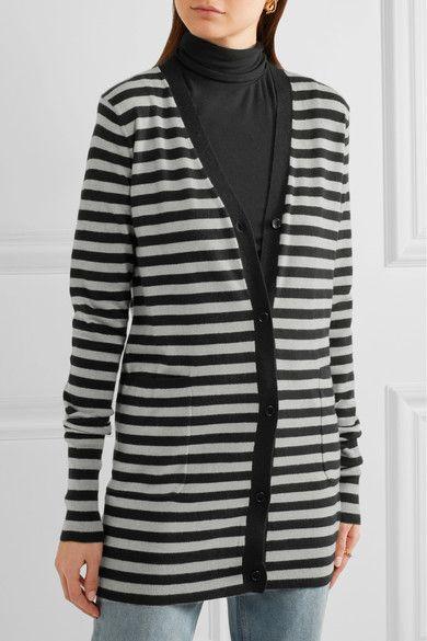Max Mara | Striped cashmere cardigan  | NET-A-PORTER.COM
