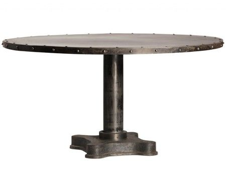 "Industrial 60"""" Round Dining Table"