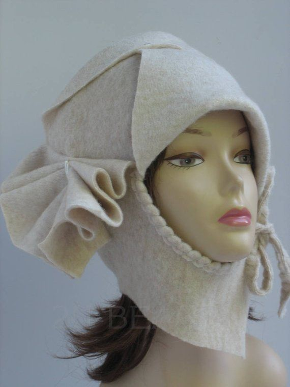 Felted Hat Retro Flapper Hat Wearable Art Deco hat Eco Hat 1920s Designer Hat Great Gatsby Hat Handmade Felt Hat 1920s hat Women wool hat – cepures