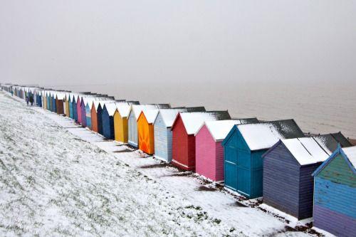 Seaside Snow, Kent Coast | England