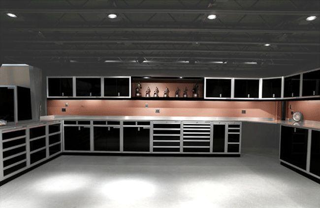 Garage, Black Storage Grey Ceiling White Floor Metal Luxury Garage Storage Systems Hiplyfe Picture 03: The Best Gift With Gladiator Garage Storage