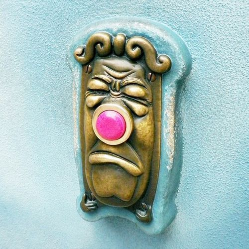 Doorbell...haha! Cute idea