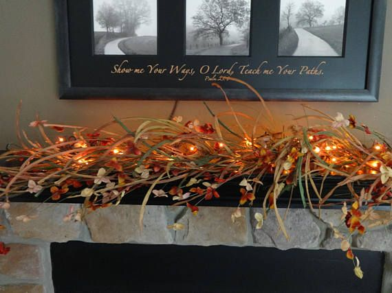 Fall Garland Fall Mantel Decoration Harvest Grass Garland