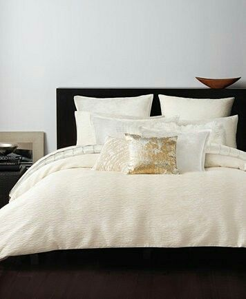 donna karan rhythm crepe jacquard ivory duvet covers and shams duvet covers bed u0026 bath macyu0027s