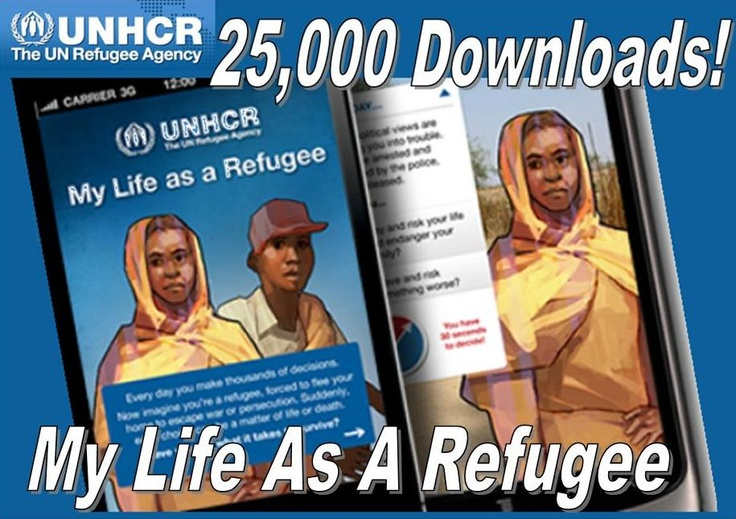 Congratulations to UNHCR and their app My Life As A Refugee for reaching 25,000 downloads!