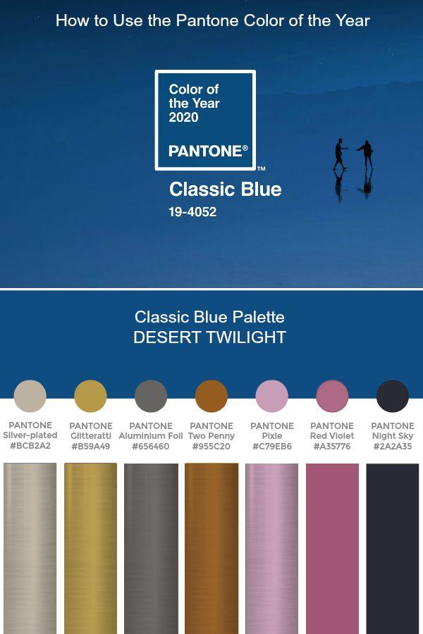 Verrassend Pantone of the Year 2020 - Classic Blue Palette - DESERT TWILIGHT NK-98