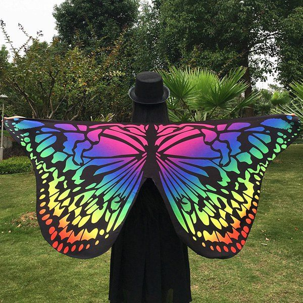 Merry Gradient Color Butterfly Scarf