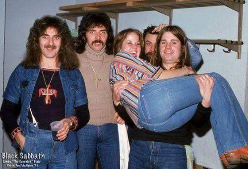 Black Sabbath and Linda Blair