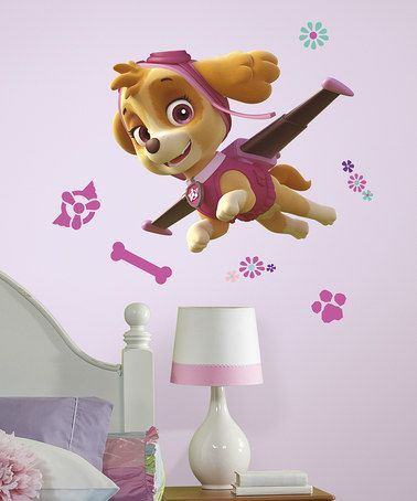 Love this PAW Patrol Skye Peel & Stick Wall Decals on #zulily! #zulilyfinds