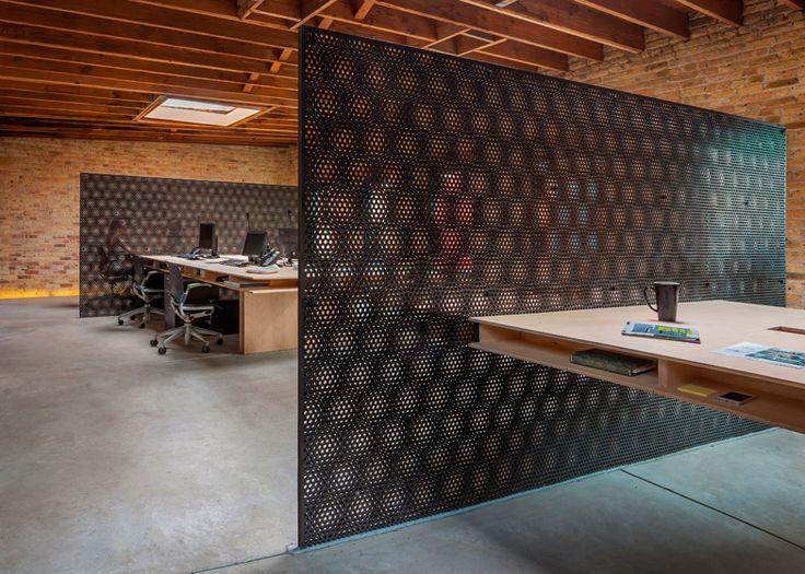 Chicago office by Vladimir Radutny has a glass-walled garage
