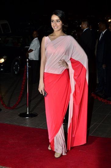 Shraddha Kapoor at Arpita Khan's reception. To view, visit:http://www.vogue.in/content/photo-diary-arpita-khans-wedding#5