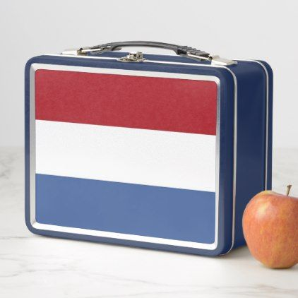 Metal Stainless Lunchbox with Netherlands flag - kitchen gifts diy ideas decor special unique individual customized